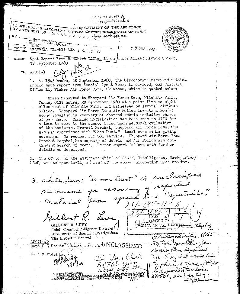 project blue book special report Instead, this book concentrates on printing the recently declassified, once top- secret files of project blue book, the us air force's official investigation of ufos from late 1947 until late 1969, when it was officially shut down brad steiger presents the original case files, field investigation reports, and scientific studies.